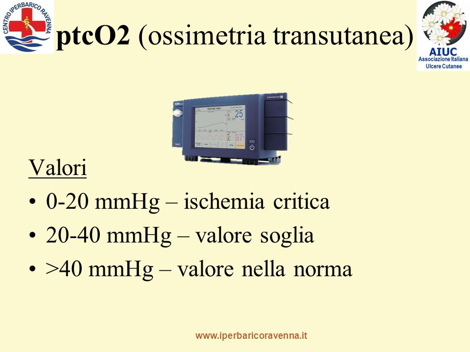 ptcO2 (ossimetria transutanea)