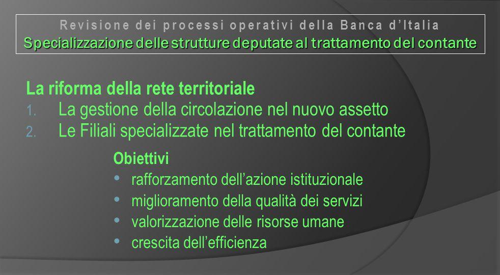 La riforma della rete territoriale