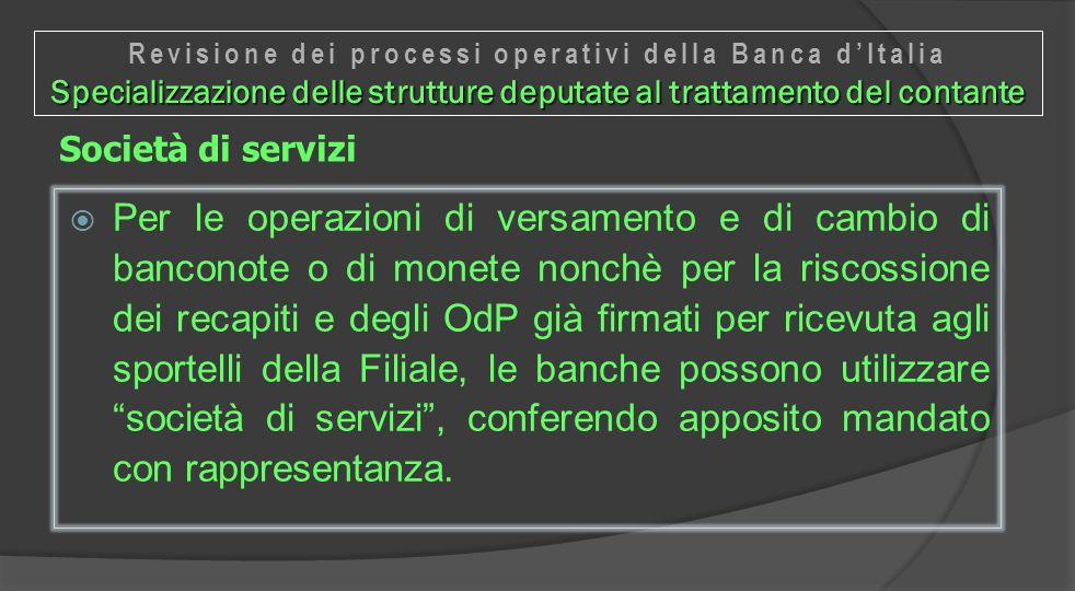 Revisione dei processi operativi della Banca d'Italia