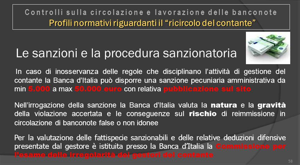 Le sanzioni e la procedura sanzionatoria