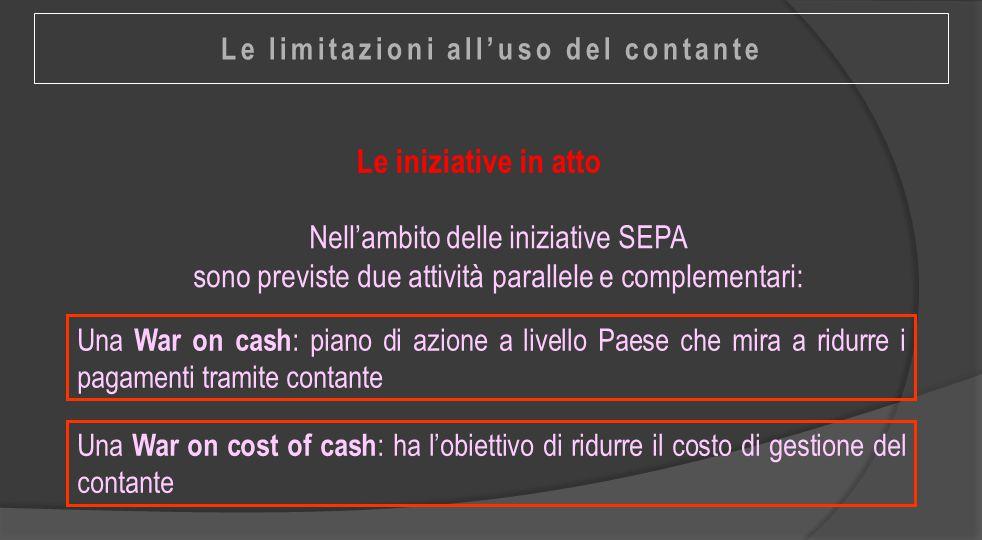 Le limitazioni all'uso del contante
