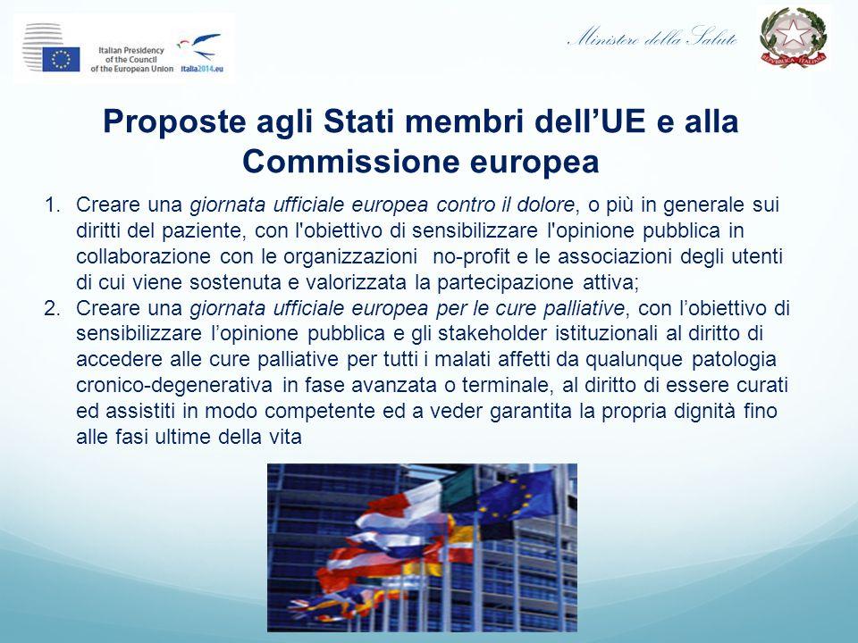 Proposte agli Stati membri dell'UE e alla Commissione europea