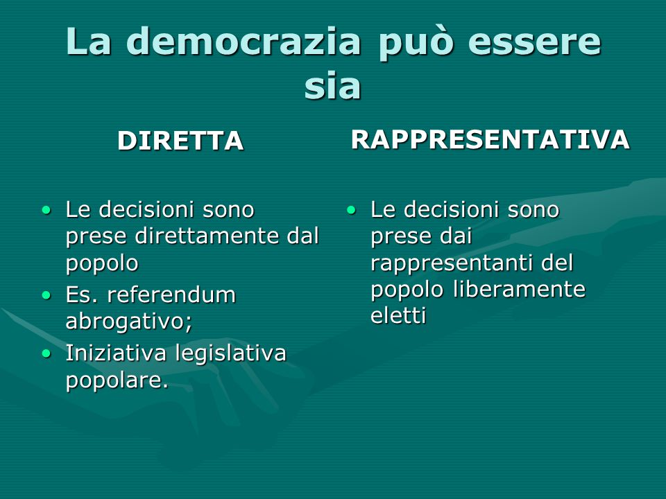 La democrazia può essere sia