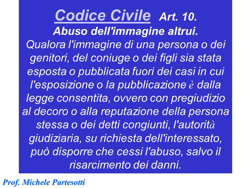 Codice Civile Art. 10. Abuso dell immagine altrui