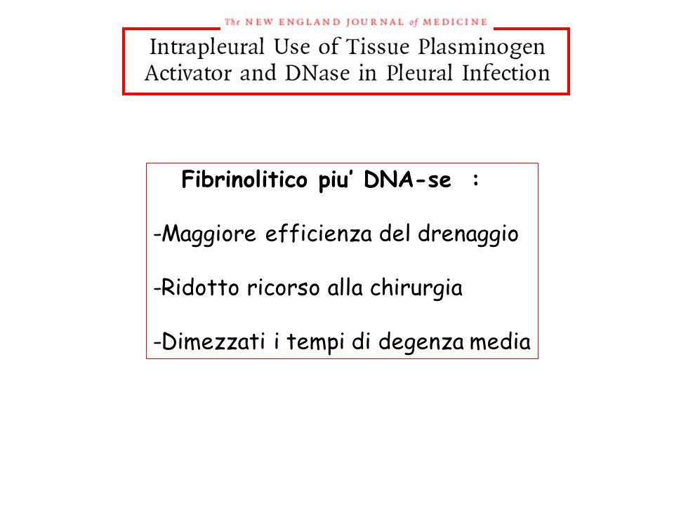 Fibrinolitico piu' DNA-se :