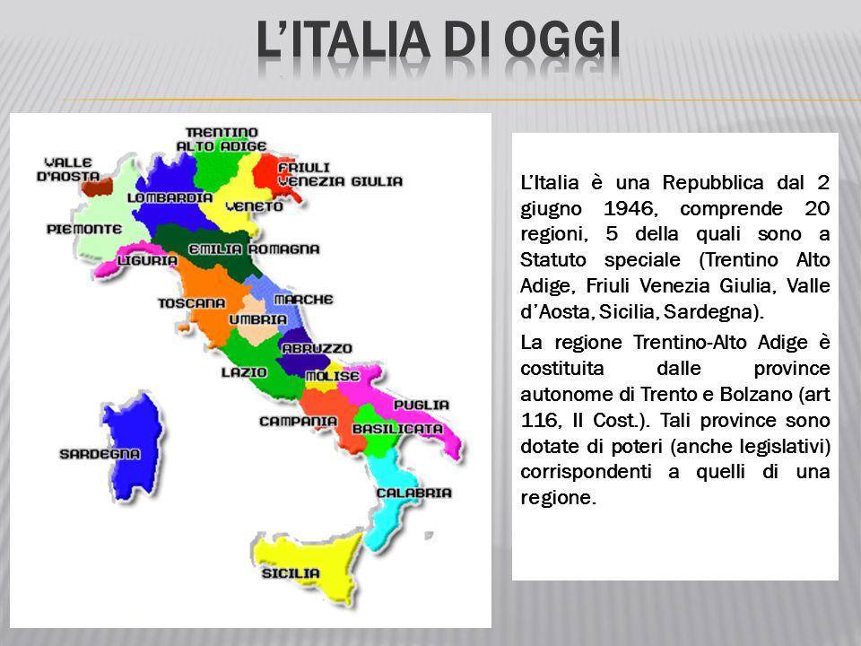 L'ITALIA DI OGGI