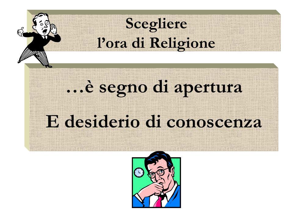 Scegliere l'ora di Religione