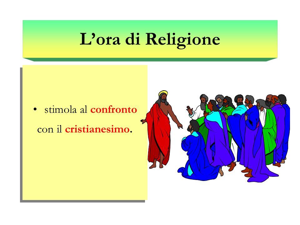L'ora di Religione stimola al confronto con il cristianesimo.