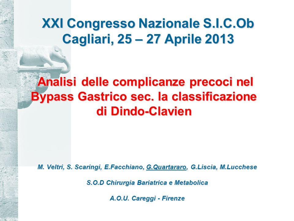 XXI Congresso Nazionale S.I.C.Ob Cagliari, 25 – 27 Aprile 2013