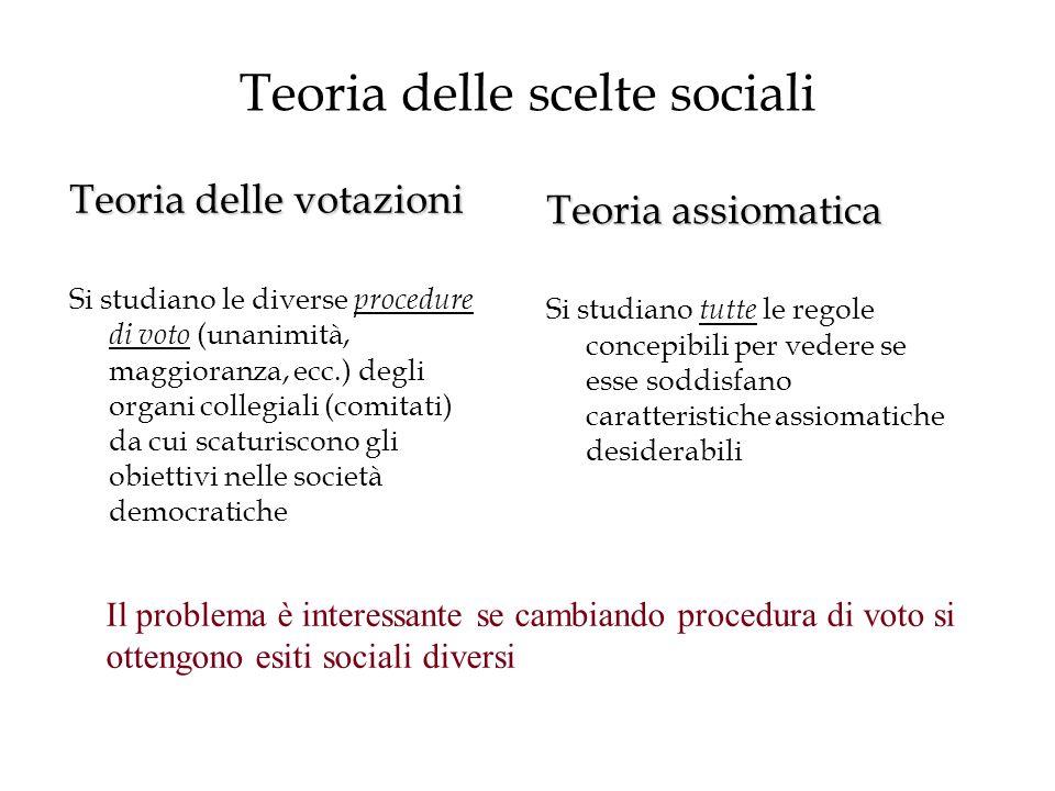 Teoria delle scelte sociali