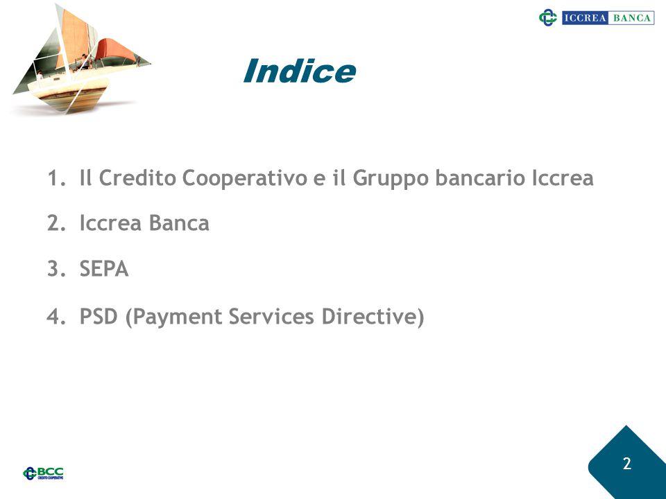 Indice Il Credito Cooperativo e il Gruppo bancario Iccrea Iccrea Banca