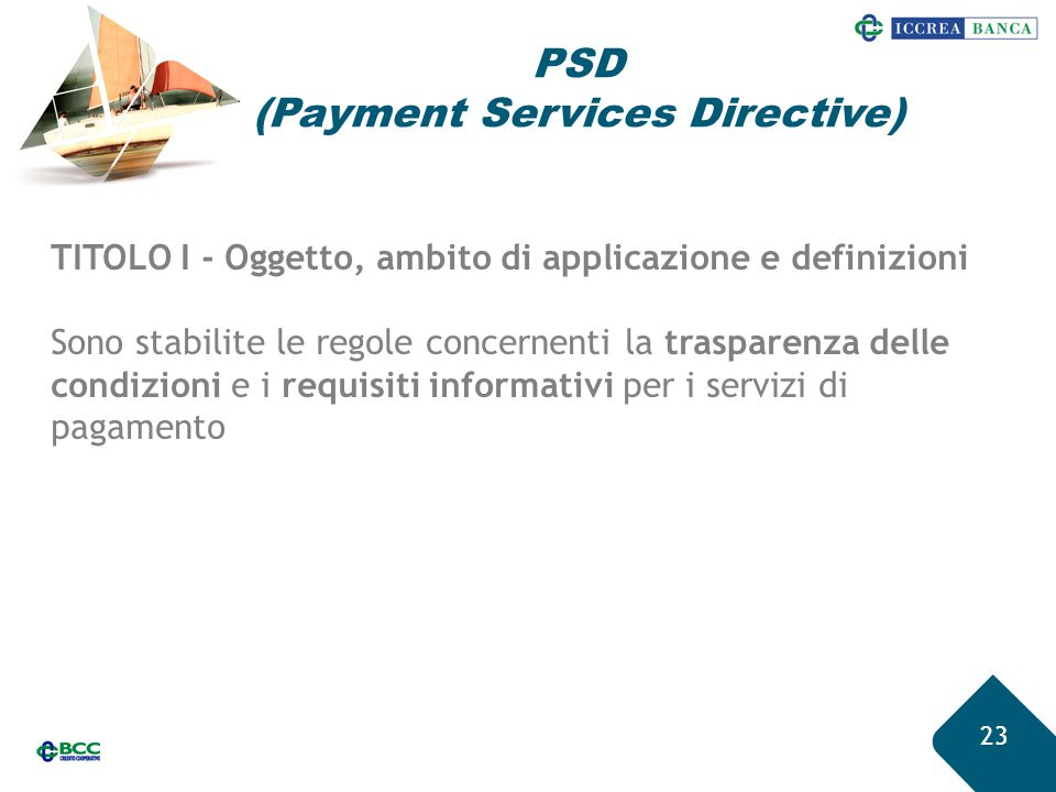 PSD (Payment Services Directive)