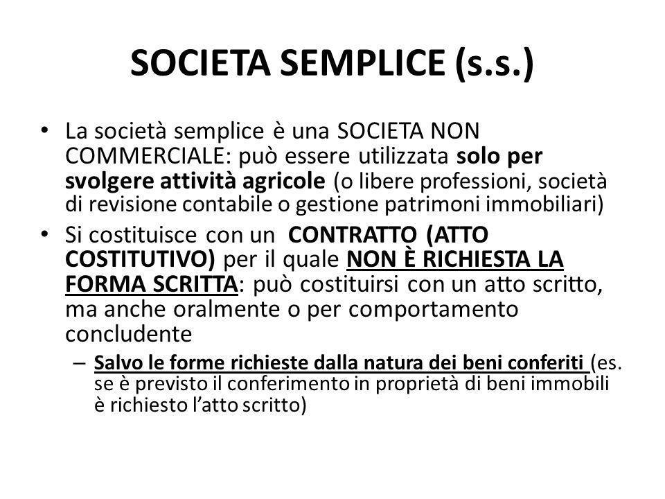 SOCIETA SEMPLICE (s.s.)