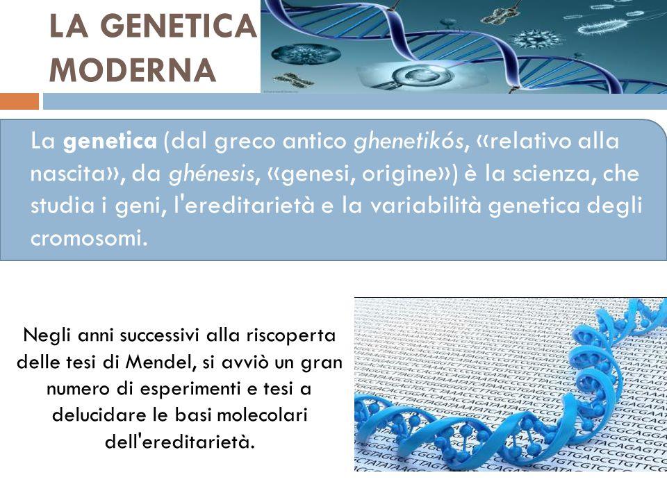 LA GENETICA MODERNA