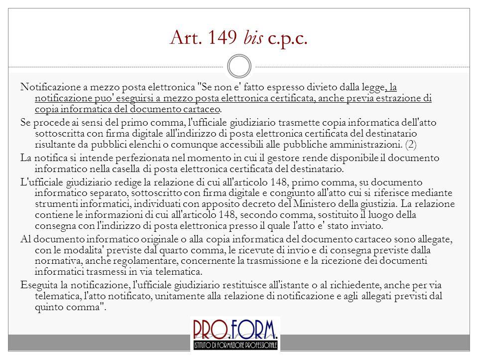 Art. 149 bis c.p.c.