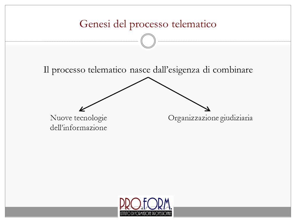 Genesi del processo telematico