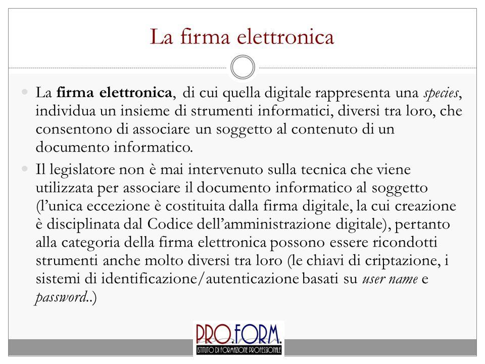 La firma elettronica