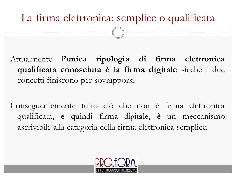 La firma elettronica: semplice o qualificata