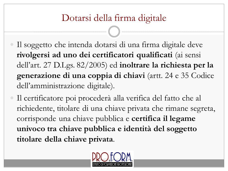 Dotarsi della firma digitale