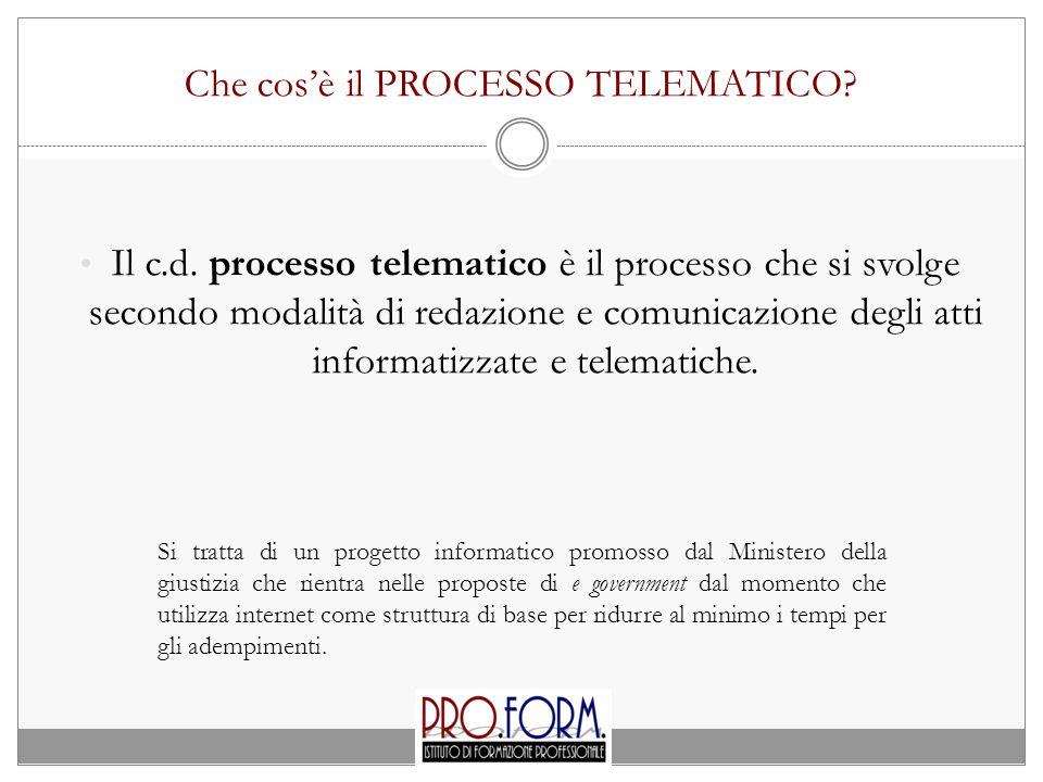 Che cos'è il PROCESSO TELEMATICO