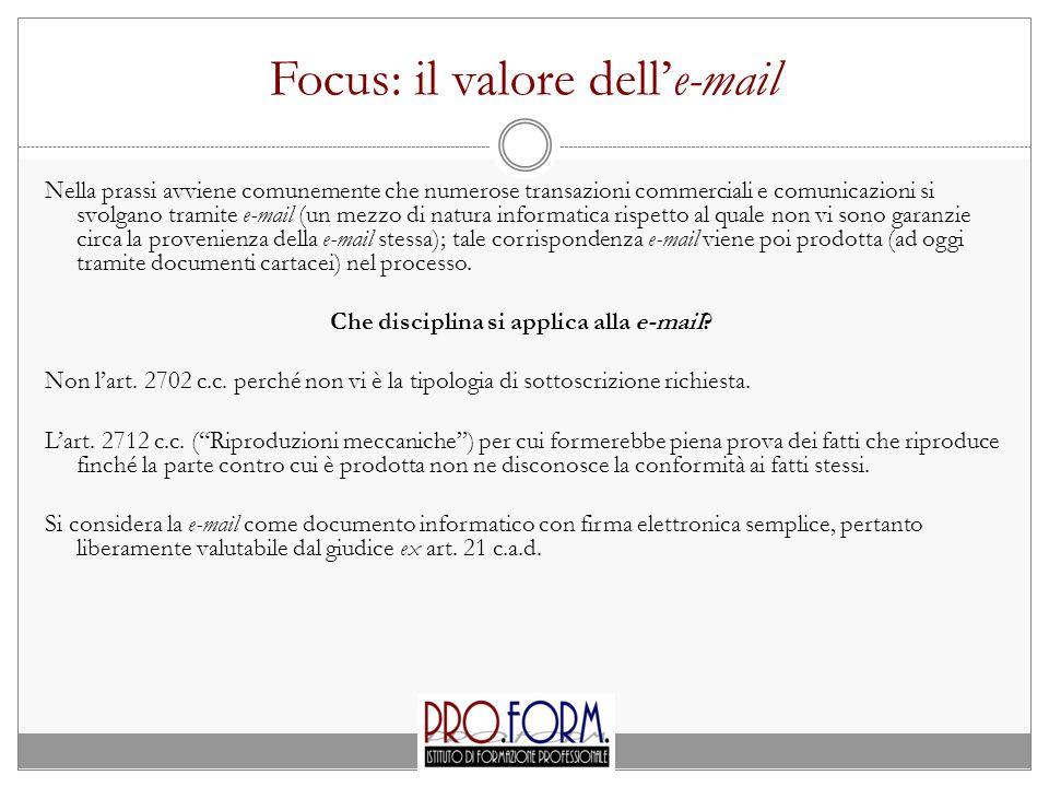 Focus: il valore dell'e-mail