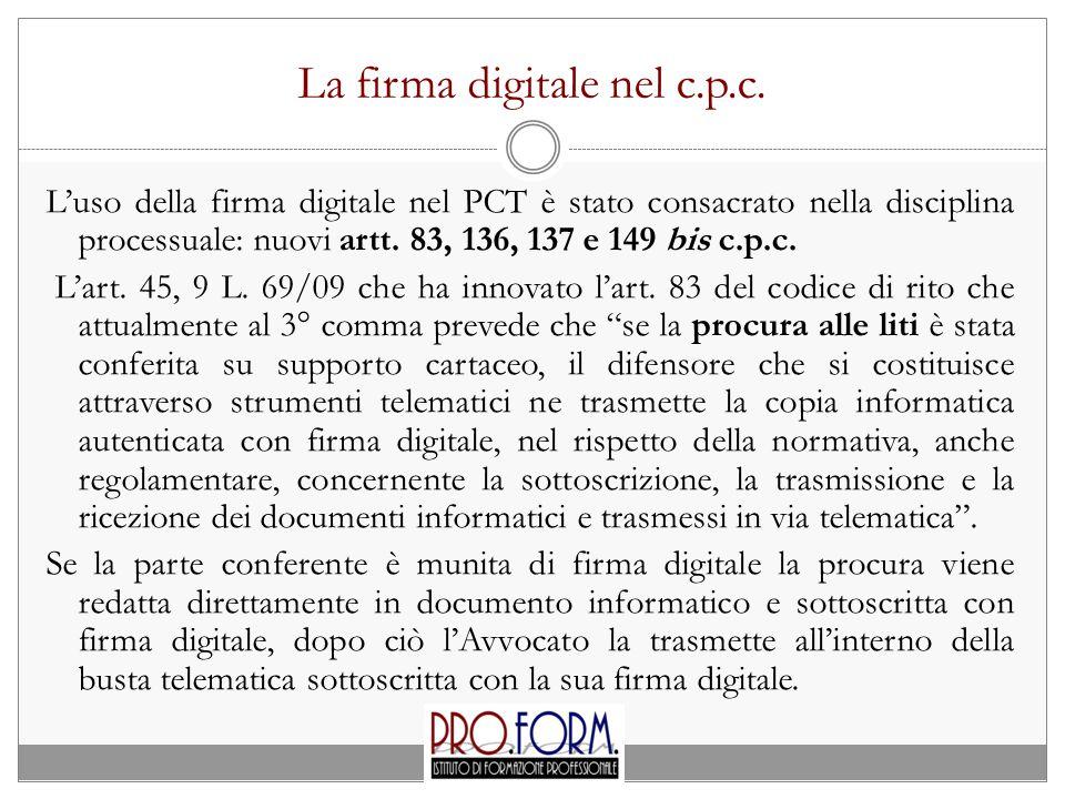 La firma digitale nel c.p.c.