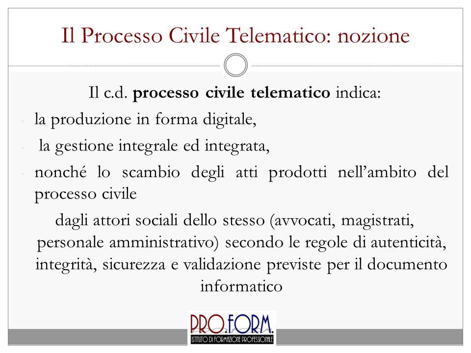 Il Processo Civile Telematico: nozione