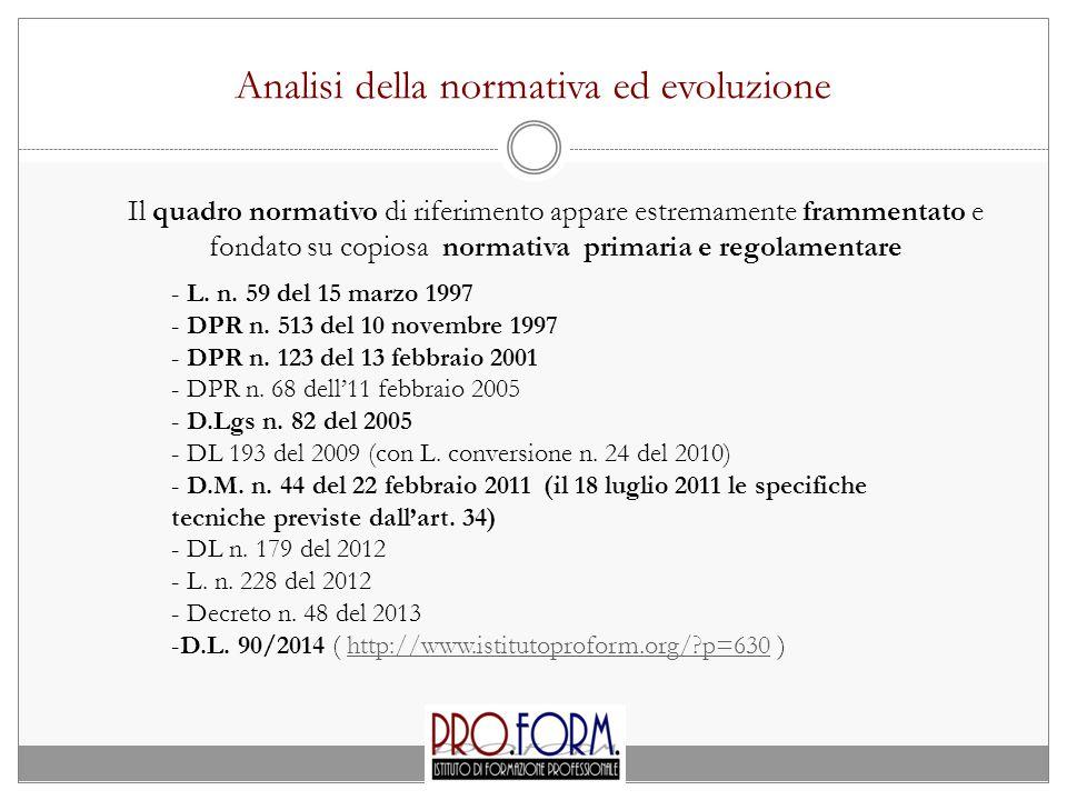 Analisi della normativa ed evoluzione
