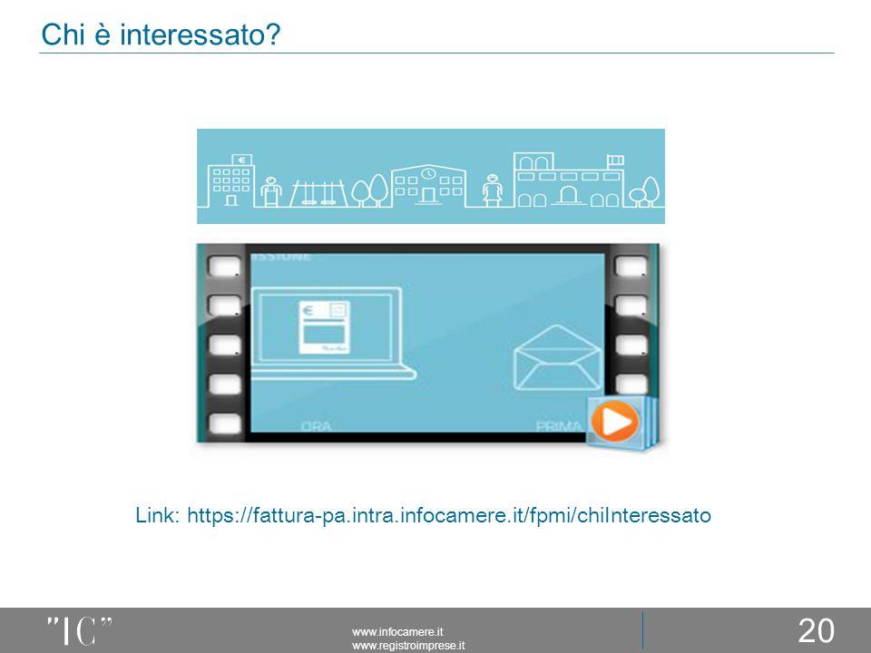 Chi è interessato Link: https://fattura-pa.intra.infocamere.it/fpmi/chiInteressato.