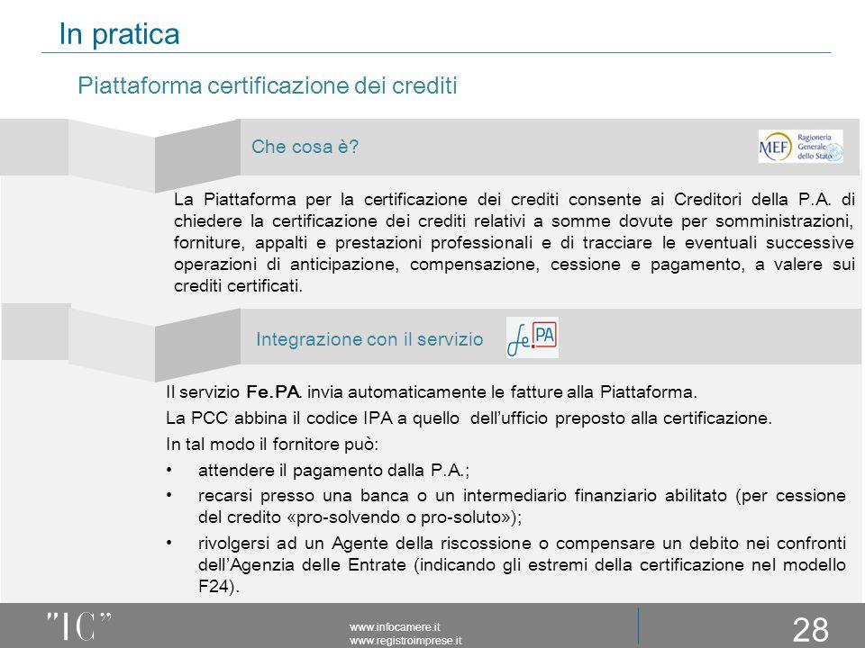 In pratica Piattaforma certificazione dei crediti Che cosa è