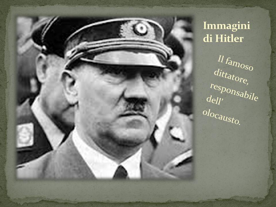 Immagini di Hitler Il famoso dittatore, responsabile dell' olocausto.