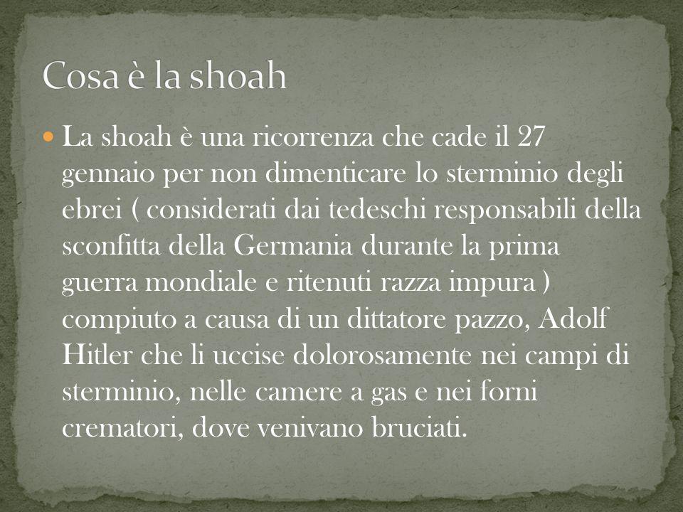 Cosa è la shoah