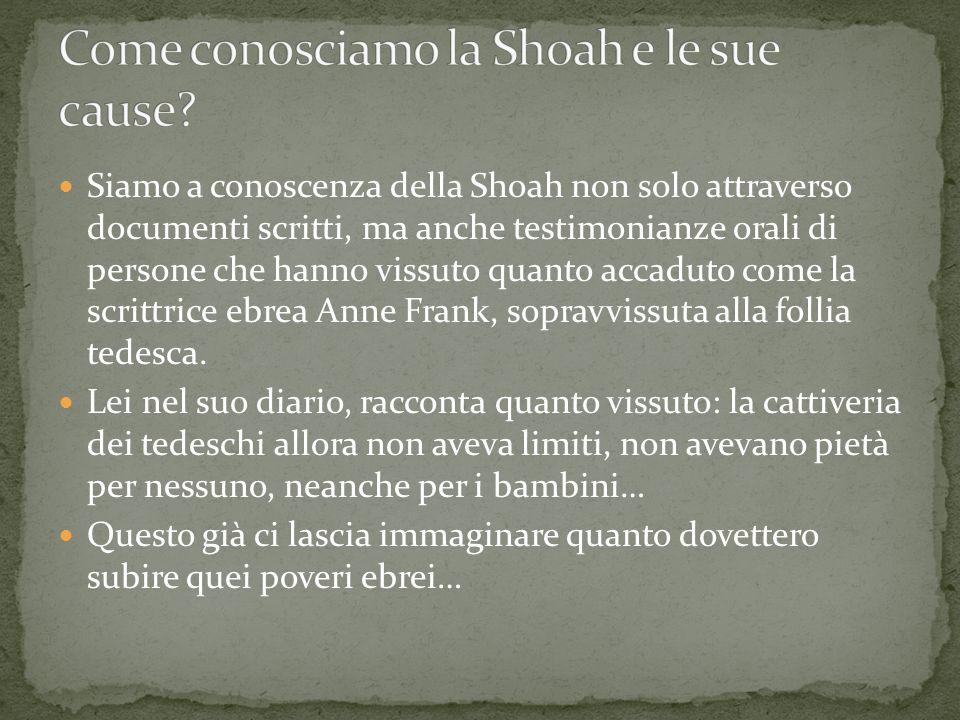 Come conosciamo la Shoah e le sue cause