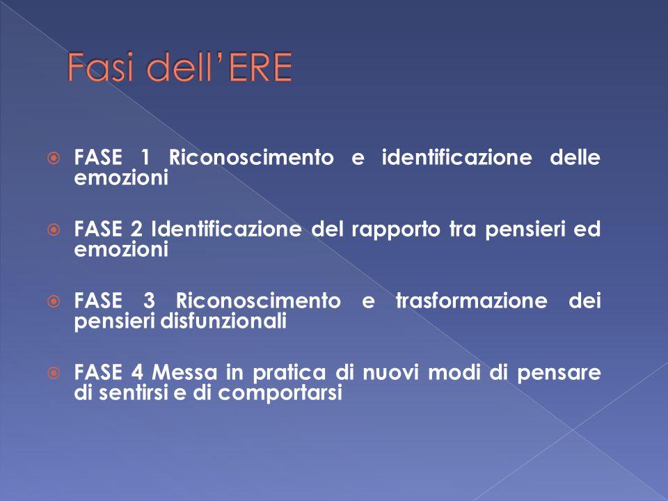 Fasi dell'ERE FASE 1 Riconoscimento e identificazione delle emozioni