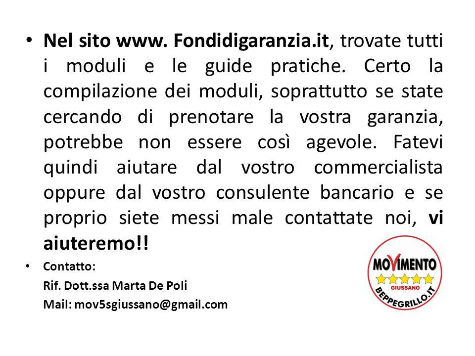 Nel sito www. Fondidigaranzia