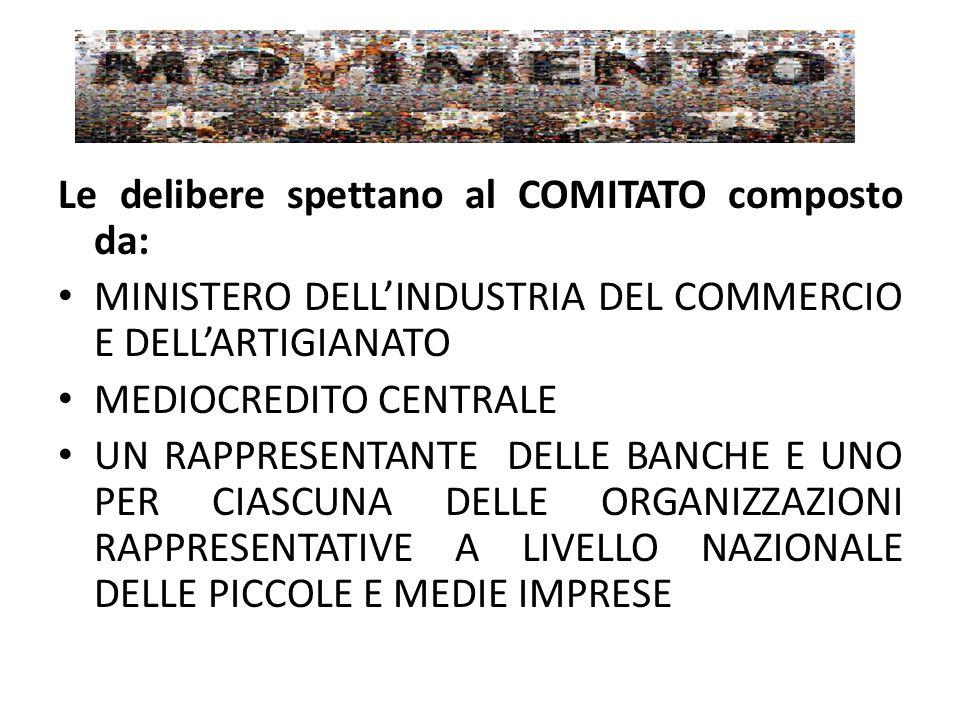 Le delibere spettano al COMITATO composto da:
