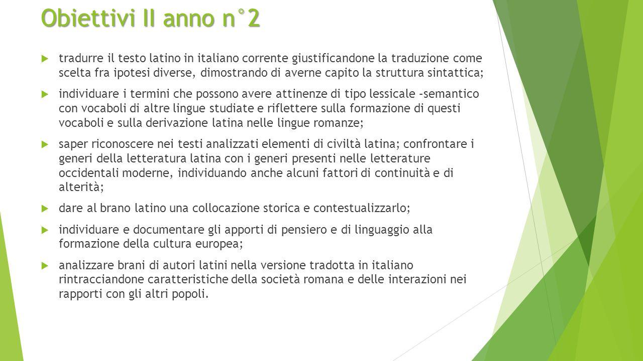 Obiettivi II anno n°2