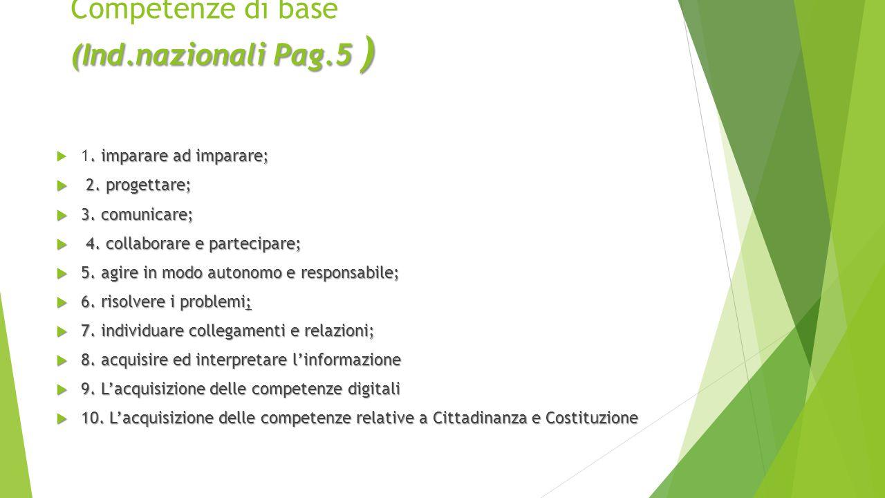 Competenze di base (Ind.nazionali Pag.5 )