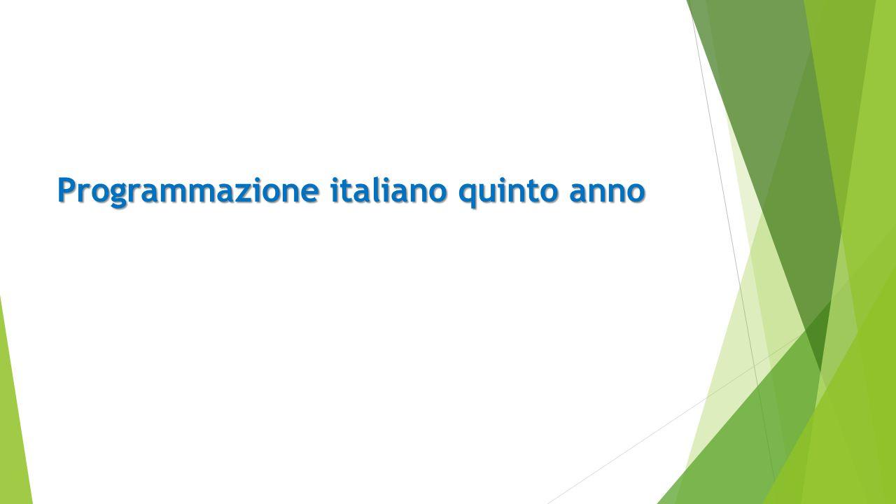 Programmazione italiano quinto anno