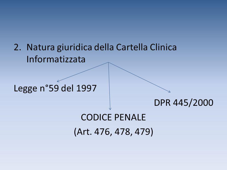 Natura giuridica della Cartella Clinica Informatizzata
