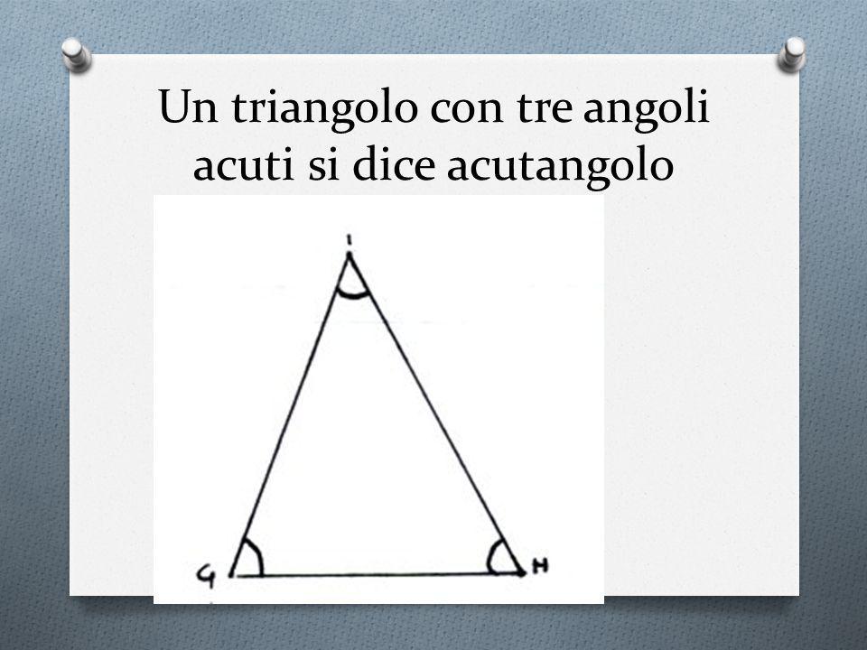 Un triangolo con tre angoli acuti si dice acutangolo