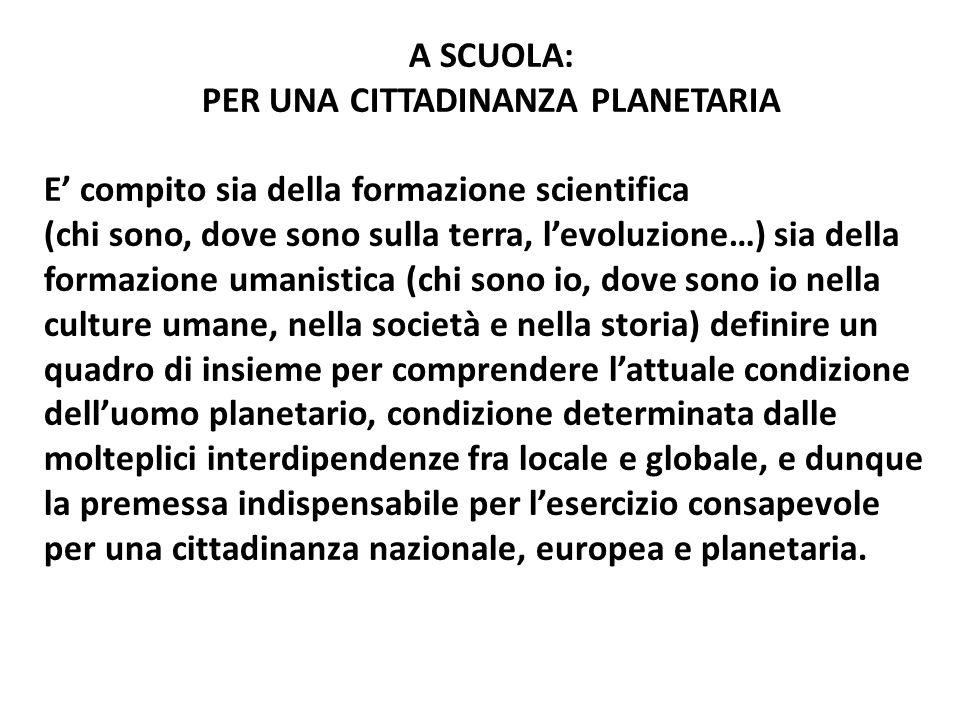 Per una cittadinanza planetaria