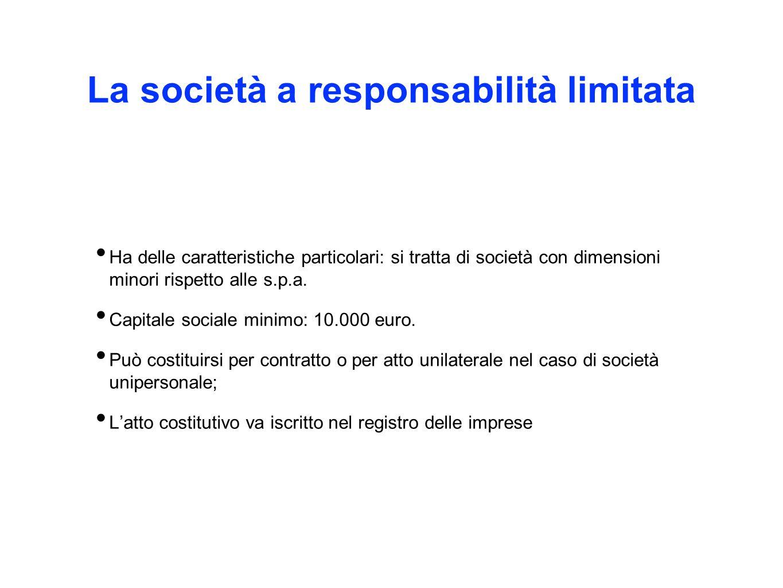 La società a responsabilità limitata