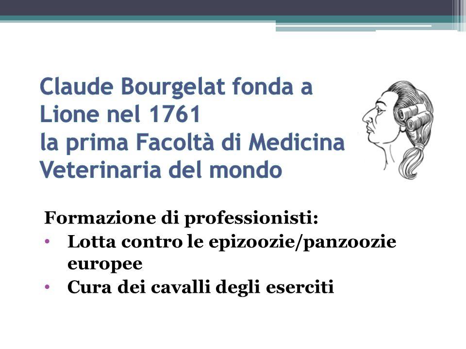 Claude Bourgelat fonda a Lione nel 1761 la prima Facoltà di Medicina Veterinaria del mondo