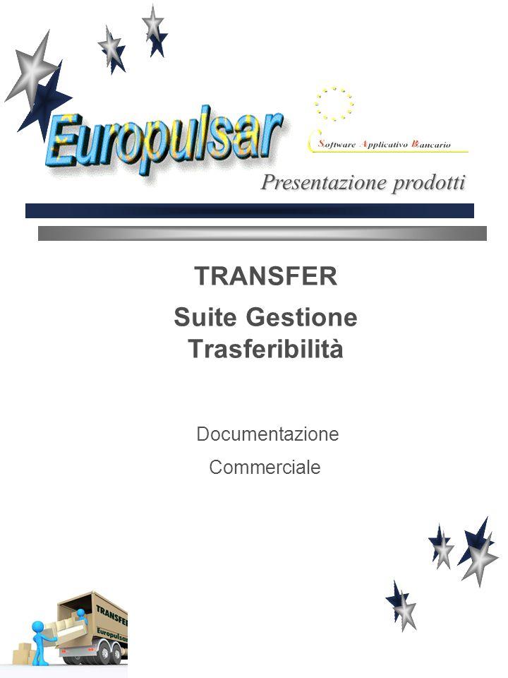 TRANSFER Suite Gestione Trasferibilità Documentazione Commerciale