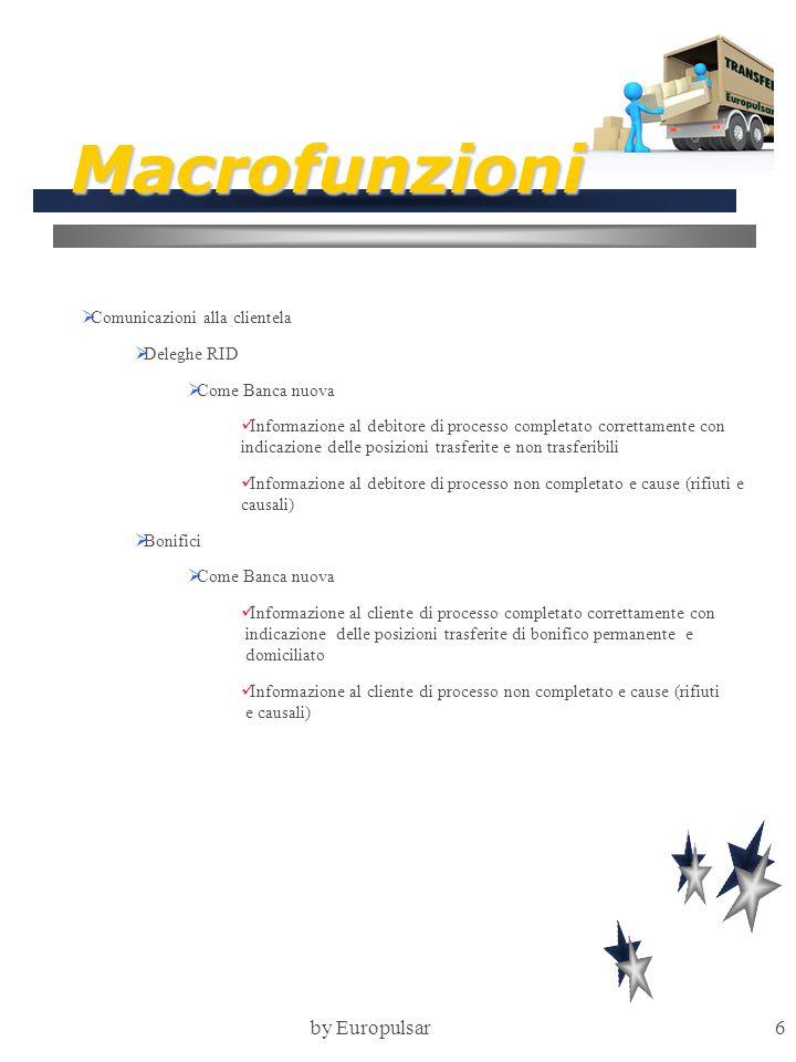 Macrofunzioni by Europulsar Comunicazioni alla clientela Deleghe RID