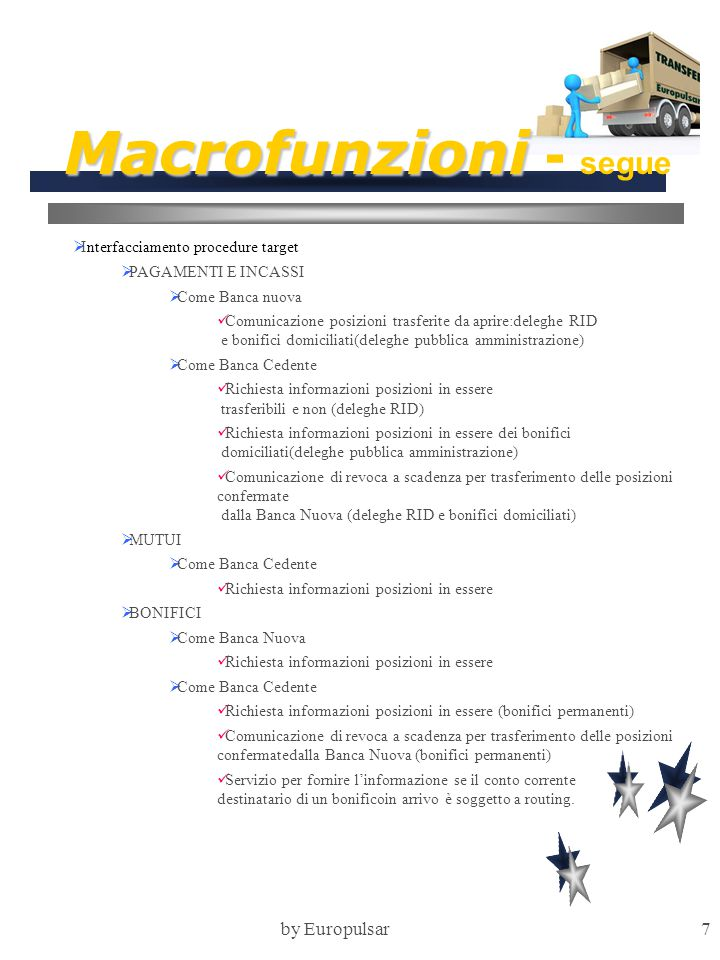 Macrofunzioni - segue by Europulsar Interfacciamento procedure target