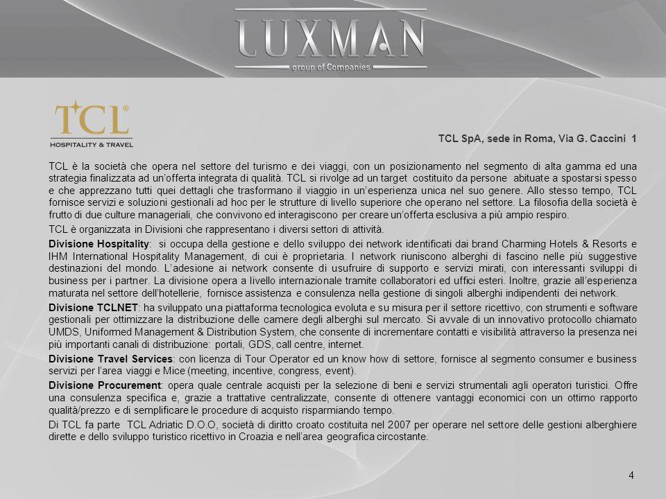 TCL SpA, sede in Roma, Via G. Caccini 1