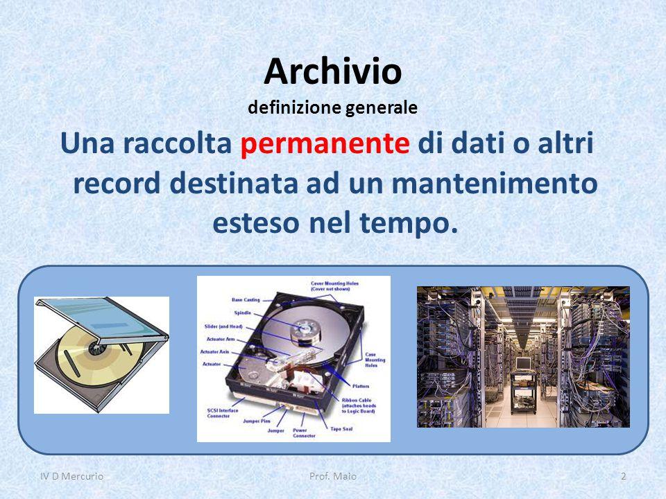 Archivio definizione generale