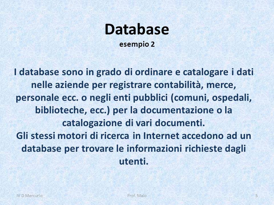 Database esempio 2